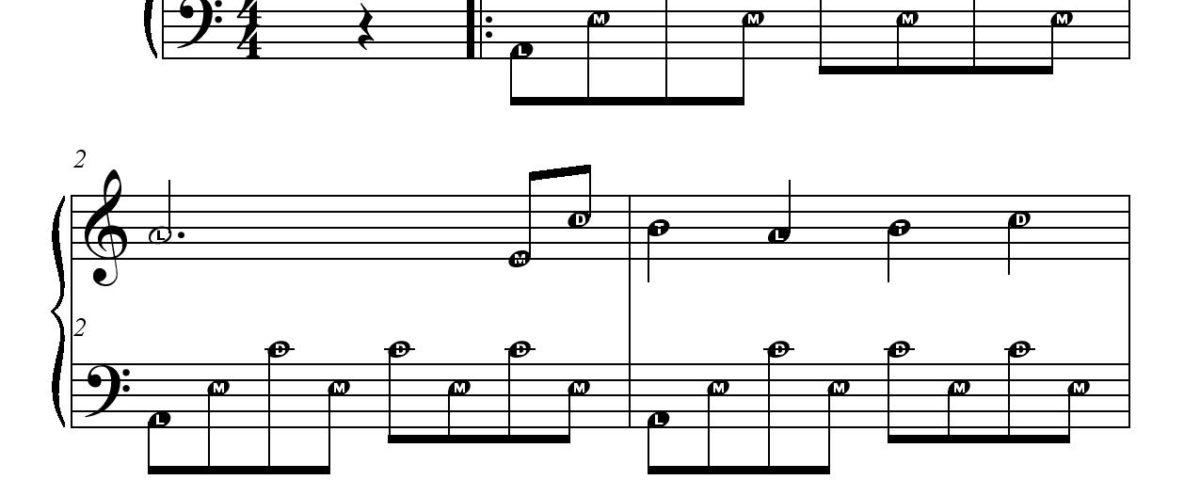 JEAN DE FLORETTE partition gratuite piano avec aide - free sheet music-page-001